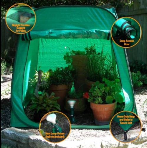 Heated Plant Guard Mini-Greenhouse
